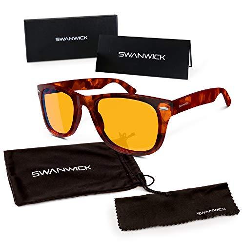 Swanwick Sleep UK Blaues Licht blockierende Brille für erholsamen Schlaf - Computerspiele und Gamer Brille und Computer Brille für tiefen Schlaf und Verhinderung von Digitalem.