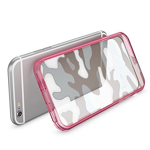 iPhone 8 / 7 Camouflage Custodia di NICA, Silicone Protezione con Retro Rinforzata e Bumper per Cellulare, Cover Case Protettiva Copertura Sottile per Telefono Apple iPhone 7 / 8, Colore:Turchese Viola