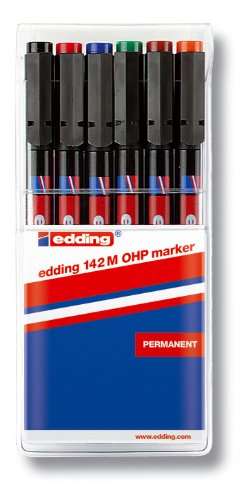 edding 4-142-6 OHP-Marker 142 M, Permanent, 1 mm, sortiert