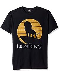 Disney mens Lion King Simba Pride Rock Silhouette Graphic T-shirt Lion King Simba Pride Rock Silhouette Graphic T-shirt Short Sleeve Shirt