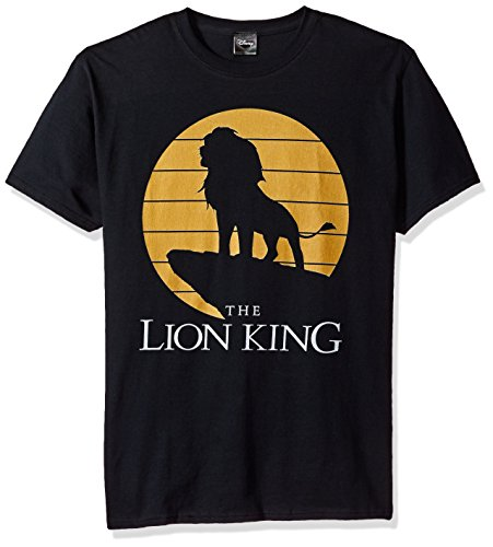 Official Disney Mens Lion King Simba Pride Rock Silhouette Graphic T-Shirt - S to 3XL