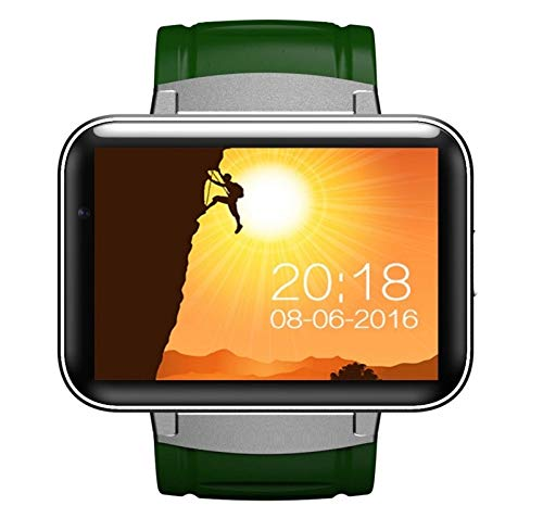 """mishuai Mishuai Android Watch Bluetooth 4.0 Großes Display 2.2""""Android Watch Smart Watch (Color : Green)"""