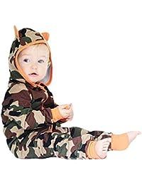 POLP Bebé Monos (◉ω◉ Recién Nacido Bebé Unisex Camuflaje Impresión Monos Conjuntos para,Niño Niña 3—18meses Ropa Verano,Pijama Niños Mameluco Manga Larga y Pantalones 3PC