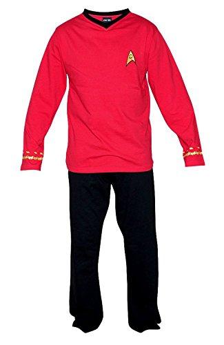 Star Trek Adult Scotty Officer Uniform Red Pajama Set