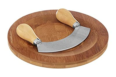 Premier Housewares Herb Chopping Board with Mezzaluna Chopper - Bamboo
