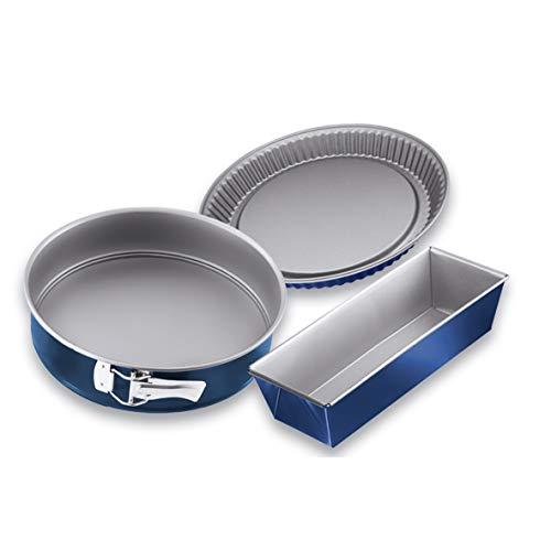 Dr. Oetker 3er Backformen-Set, Kuchen Backform (Kuchenform: Spring-, Kasten- und Obstkuchenform), Backblech antihaft & energiesparend, Menge: 1 x 3er Set
