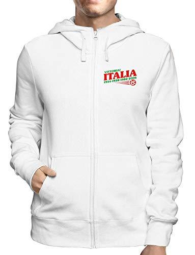Sweatshirt Hoodie Zip Weiss OLDENG00145 Italy World Champs Champ Zip Hoodie
