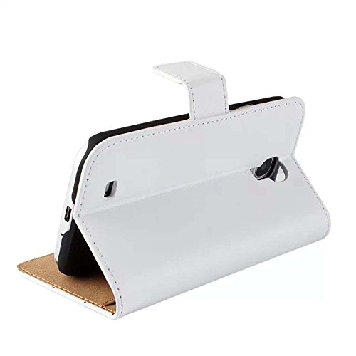 CATOE Echtleder-Klappschutzhülle mit Standfunktion und Kartenfach für Samsung Galaxy S2, S3, S4, S5, Note2, Note3, Note4,Hohe Qualität, für Sport / Fitnessstudio Weiß - weiß