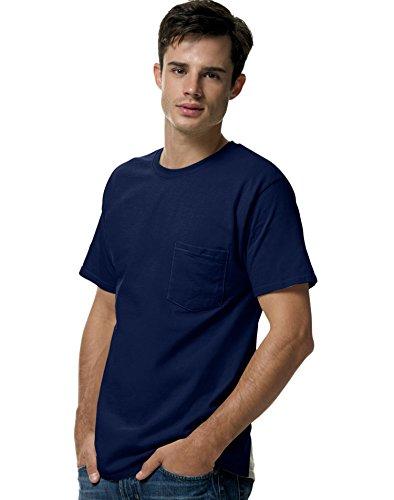 hanes-t-shirt-uomo-blu-blu-marino-m