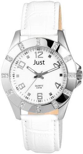 Just Watches 8-SL 48-S3928-SL - Orologio da polso da donna, cinturino in pelle colore bianco