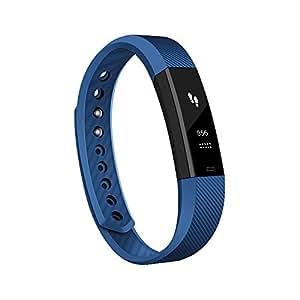 Antimi Fitness Armband, fitness tracker smart bracelet Smartwatch für Android Smartphone und iPhone, Schrittzähler, Push-Message und Anrufer - ID Benachrichtigung (Blue)