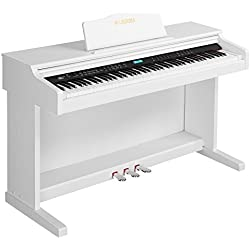 LAGRIMA Clavier LCD Digital Piano 88 touches avec 3 pédales, adaptateur et USB/MIDI