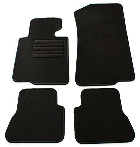 terciopelo ajuste felpudos Set, Negro para BMW Serie 3E46Cabrio, Mod. BJ. 4/00de