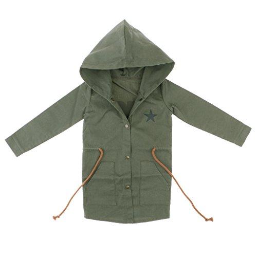MagiDeal Puppen Freizeitkleidung für 1/3 Männliche BJD SD Puppen - Schnürung Kapuzenmantel Outwear - Armeegrün