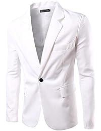 Uomo Slim Fit Uomo Casual One Button Elegante Vestito di Affari Cappotto  Giacca Blazers Top Outwear d505606e801