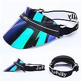 JIEPOLLY UV Cappello Visiera Parasole Esterno Sport Sole Protezione Visiera Donna Uomo-Trasparente Colore Protezione Solare Cappuccio,3