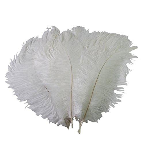 Tinksky Piume Struzzo maschera piuma di struzzo grandi decorazioni di nozze fai da te maschera partito piuma 30-35cm - 10 pezzi
