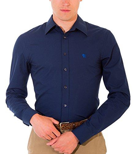 Bivolino -  Camicia Casual  - Classico  - Uomo Marine