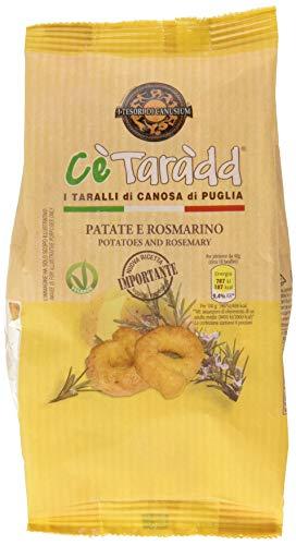 I tesori di canusium ce'taradd tarallini patate e rosmarino - 225 g