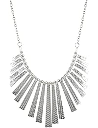 Aradhya Silver Plated Statement Necklace For Women And Girls