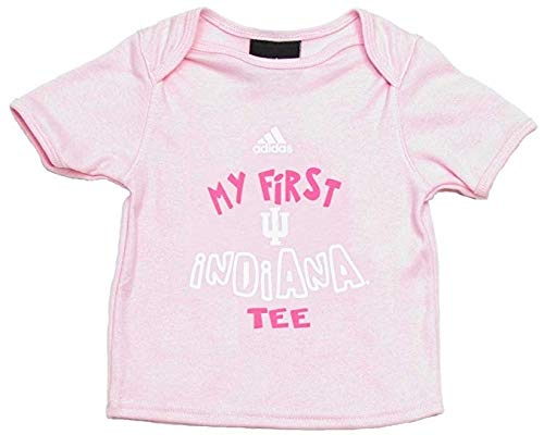 Baby First Tee T-shirt (adidas Indiana Hoosiers Baby Girl First Pink Tee - T-Shirt (12 Months))