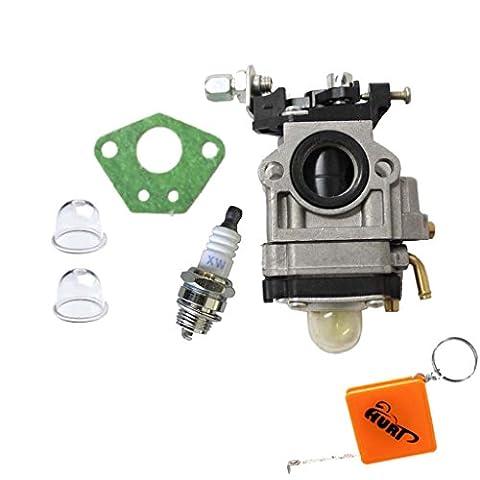 HURI Replacement Go-Ped 49cc 43cc Carburettor Carb DR49 Midi Bike Mini Moto DR49 Carburetor with Spark Plug Gasket Primer bulb