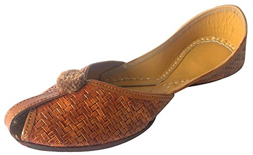 Step n Style Schritt N Style Frauen Flache Hausschuhe Sandalen kolhapuri Chappal Khussa Schuhe Indischen Jutis