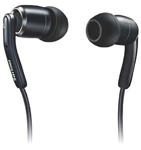Philips SHE9700 InEar-Kopfhörer mit erstklassiger Klangwiedergabe, Split Kabel und Tragetasche, schwarz