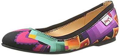 Desigual Neni, Ballerines fille - Multicolore (3043 Fucsia Glamour), 35 EU