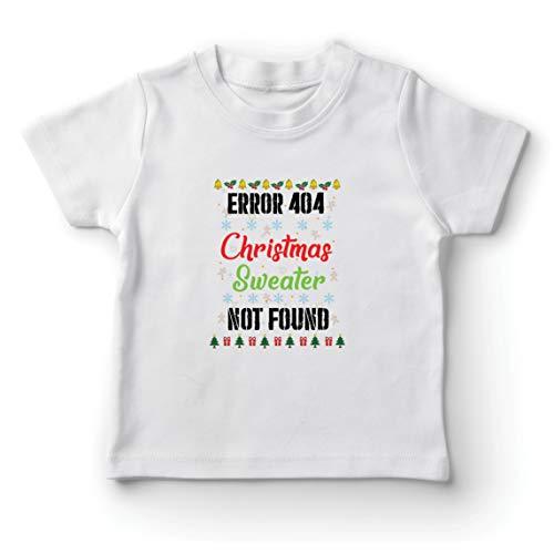 lepni.me Kinder Jungen/Mädchen T-Shirt Fehler 404 Hässliche Weihnachtspullover Nicht gefunden Programmierer Witze (7-8 Years Weiß Mehrfarben)