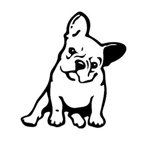 CAR Sticker Home Bulldogge Hund Auto Aufkleber Bulldog Superheld Hund Pitbull Bulldog reflektierende Auto ()
