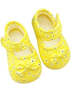 Vovotrade 0-18 meses Niña Bebé Primer Paso Zapatos Nudo de arco Flores completas paño