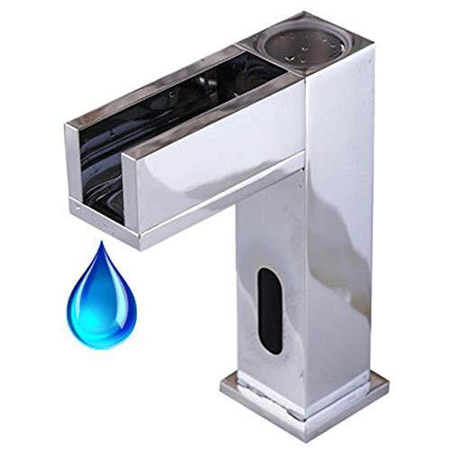 SoonerQuicker Neuer LED Wasserfall Waschbecken Wasserhahn mit automatischem Sensor Wasserhahn