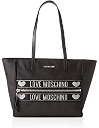 Love Moschino Jc4275pp0a, Bolso tipo tote para Mujer, Negro (Black), 12x27x40 Centimeters (W x H x L)
