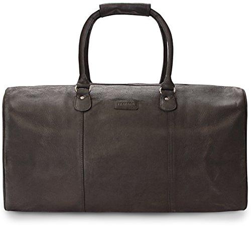 #LEABAGS Tokio Reisetasche aus echtem Büffel-Leder im Vintage Look#