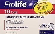 Prolife Vzdt032 10 Forte Capsule - Integratore con 10 Miliardi di Probiotici (Fermenti Lattici Vivi) per Dose,