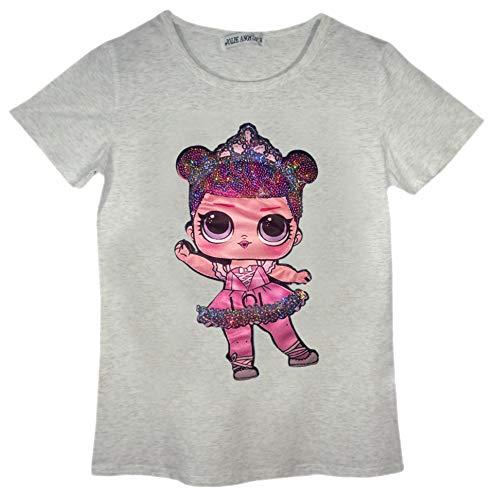 Desconocido LOL Nuevas Muchachas muñeca muñecas Rosadas niños L.O.L Tapas de la Camiseta del Partido Tamaño Edad 3-14 años