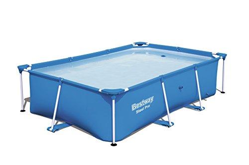 Nueva-Bestway-piscina-rectangular-con-marco-de-acero-3-tamaos-azul-patio-trasero