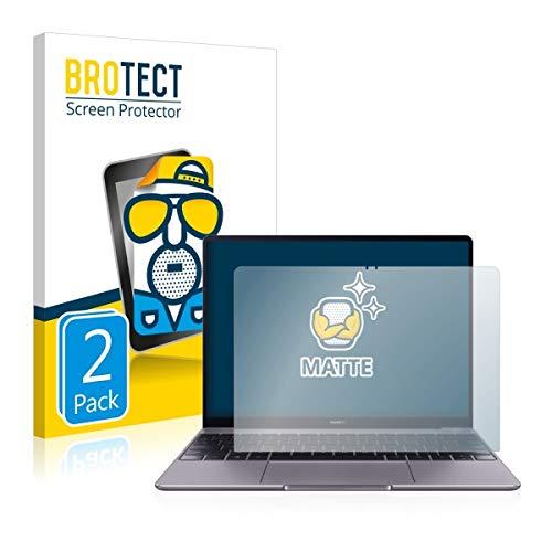 2X BROTECT Matt Bildschirmschutz Schutzfolie für Huawei MateBook 13 (matt - entspiegelt, Kratzfest, schmutzabweisend)