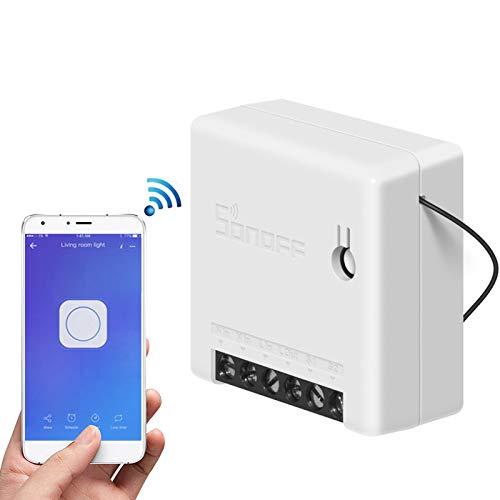Sonoff MINI Smart Switch, telecomando wireless per elettrodomestici, fai-da-te il tuo sistema di automazione domestica tramite l'app eWeLink