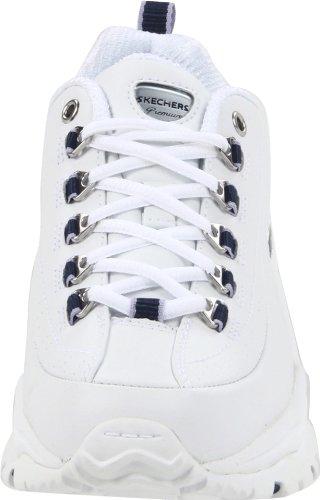 Skechers Sport Women's Premium Sneaker,White/Navy,6 M US White/navy