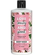 Love Beauty & Planet Murumuru Butter and Rose Aroma Bountiful Moisture Body Wash, 400 ml