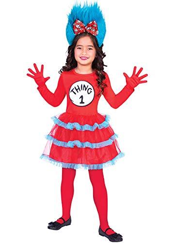 amscan Dr. Seuss Ding 1 & Ding 2 Kleid - Kostüm Kinder Mädchen