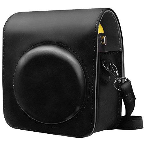 Fintie Tasche für Fujifilm Instax Mini 70 Sofortbildkamera - Premium Kunstleder Schutzhülle Reise Kameratasche Hülle Abdeckung mit abnehmbaren Riemen, Schwarz