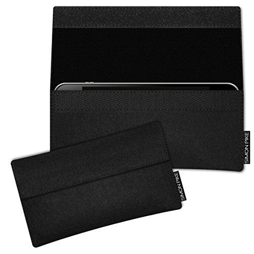 SIMON PIKE HUAWEI P9 Lite Filztasche Case Hülle NewYork in schwarz 1, passgenau maßgefertigte Filz Schutzhülle aus echtem Natur Wollfilz, dünne Tasche im schlanken Slim Fit Design für das P9 Lite
