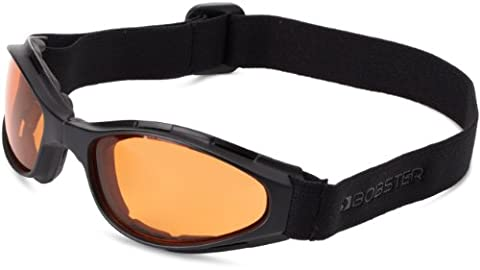 Zan Headgear BCR003 Crossfire Small Folding Goggles Black frame Amber