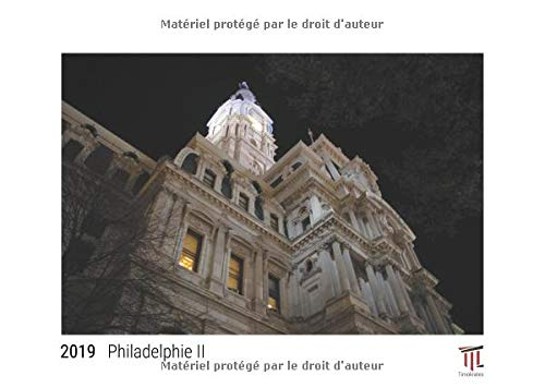 Philadelphie II 2019 édition blanche calendrier mural timokrates calendrier phot