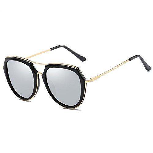 Lunettes de soleil ZHIRONG polarisées de plage de mode, protection solaire contre UV, voyage extérieur, lunettes de conduite, cadre en métal (Couleur : 01)