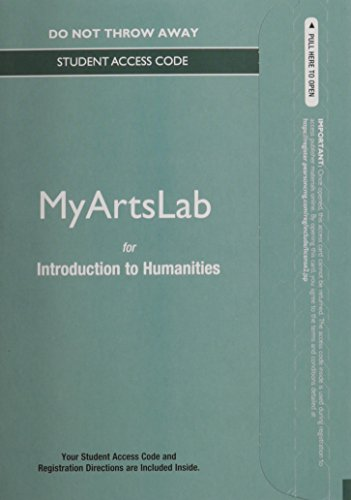 NEW MyLab Arts Generic without Pearson eText -- Standalone Access Card -- for Introduction to Humanities Courses