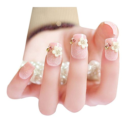 2 Boîtes(48 Pièces)3D mariage faux ongle/joli style faux ongle, Rose
